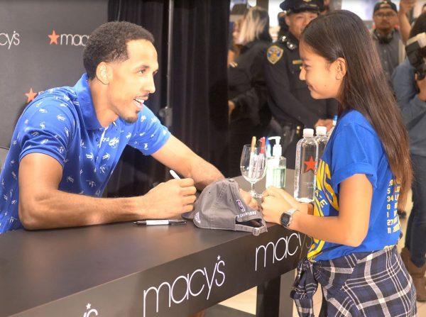 Shaun Livingston Macy's Golden State Warriors Meet and Greet Autograph Signing 2017 Lonzo Ball