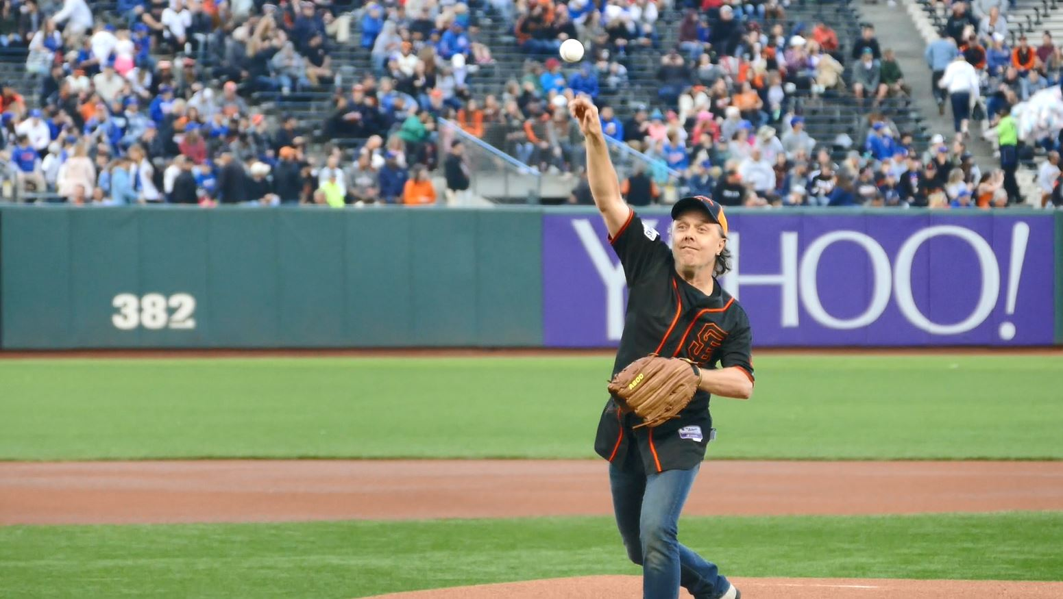 Lars Ulrich Metallica SF Giants First Pitch 2017