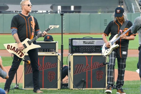 Metallica Star Spangled Banner 2017 San Francisco Giants James Hetfield Kirk Hammett Metallica Night Rehearsal Onfield