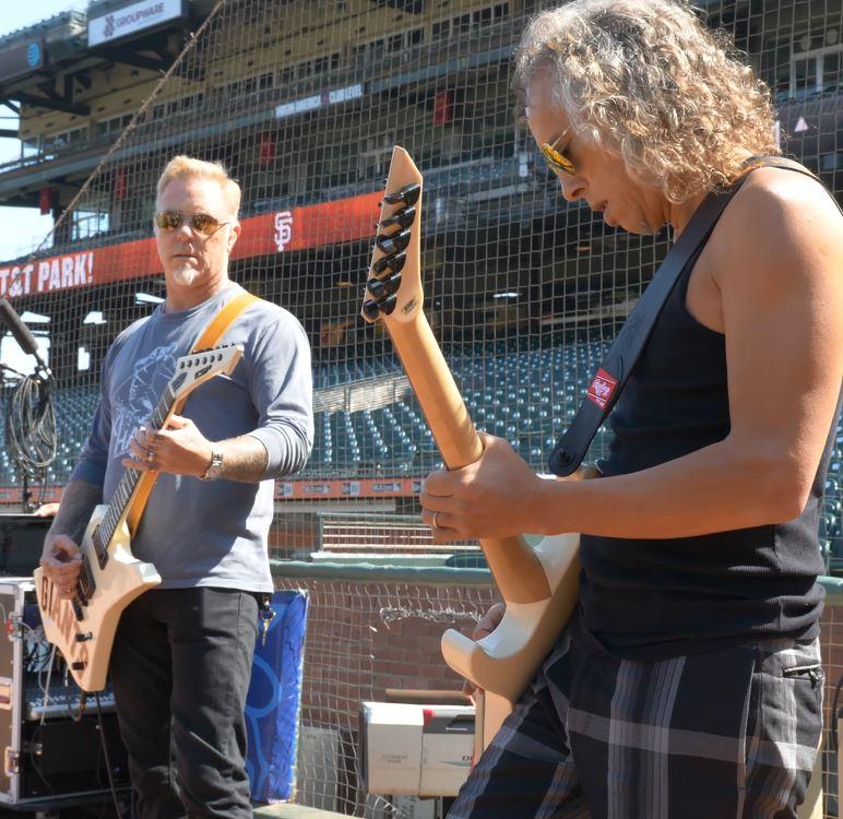 Metallica Star Spangled Banner 2017 San Francisco Giants James Hetfield Kirk Hammett Metallica Night Rehearsal