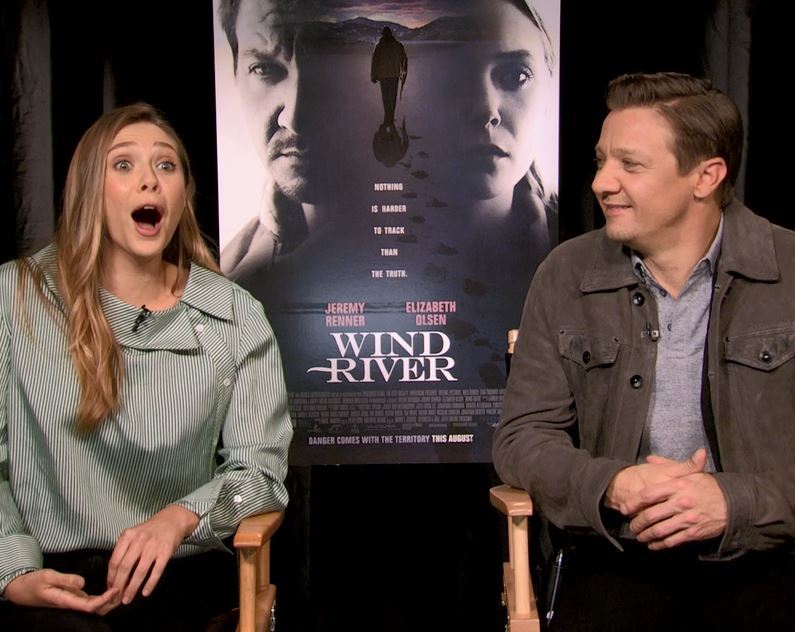 Wind River Elizabeth Olsen Jeremy Renner Interview San Francisco 2017