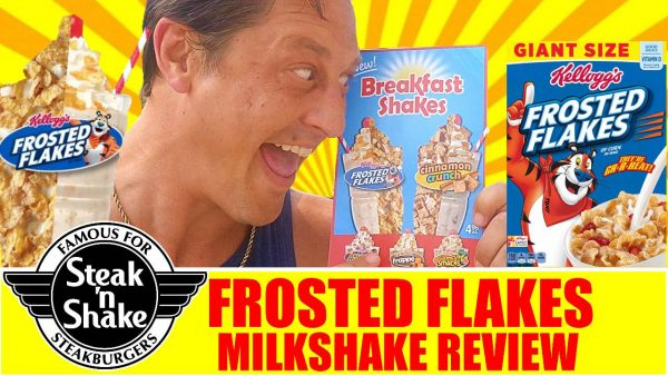 Steak N Shake Campbell Grand Opening Frosted Flakes Milkshake Review